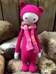 BINA the bear made by Eleni H. / crochet pattern by lalylala