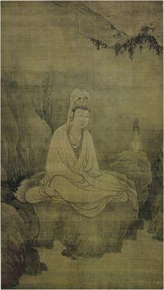 13th century Chinese monk painter Mu Qi: Quan Yin