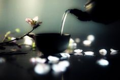 . Drink your tea slowly and reverently,as if it is the axis on which the world earth revolves - slowly, evenly, without rushing toward the future;Live the actual moment.Only this moment is life. Thich Nhat Hanh