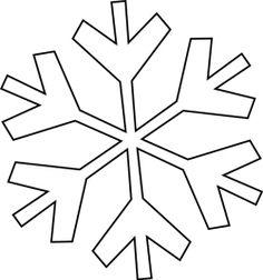 floco de neve molde