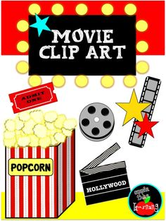 Freebie: Movie Theater clip art is just perfect for adding to literacy station activities, classroom newsletters, learning kits to send home and homeschool . Hollywood Theme Classroom, Classroom Themes, Movie Classroom, Movie Clipart, Classroom Newsletter, Teacher Freebies, Movie Themes, Class Decoration, Movie Party