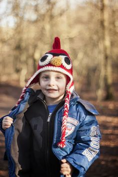Angry bird crochet hat