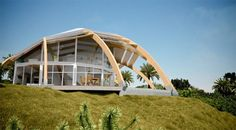Rotating dome house that can withstand a category 5 hurricane. Designed by david Fanchon