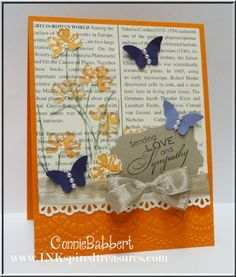 SU Love & Sympathy (or any sentiment) First Edition DSP, Delicate Designs E F, Finishing Touches Edgelit. Decorative Label, Bitty Butterfly punches  (Mar 31 2013)