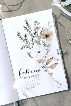 Check out the best bullet journal monthly cover spread ideas for february inspiration! #bujo #bulletjournal #bujocover #bujoinspiration