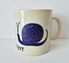 Vintage 1979 Taylor &NG L' Escargot Snail Mug Blue #TAYLORNG