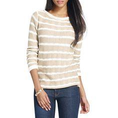 Jones New York Long Sleeve Striped Sweater in Cashew Combo -Large NWT Ladies #JonesNewYork #Pullover #Everyday