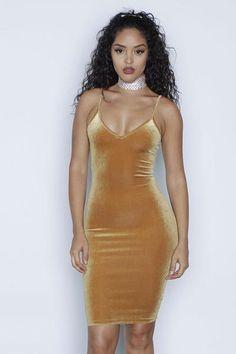 f11245c1be Sexy Spaghetti Strap Velvet Low Cut Bodycon Knee-Length Dress –  risechic.com Tight