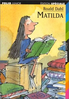 """Matilda - she's a bookworm with supernatural powers. From Roald Dahl """"Matilda"""" Matilda Roald Dahl, Mara Wilson, Quentin Blake, Danny Devito, Best Children Books, Childrens Books, Cycle 3, Chapter Books, Lectures"""