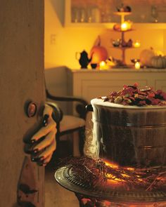 Halloween Decor: Smoking Candy Cauldron