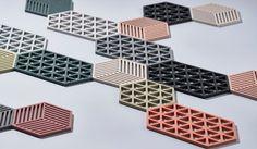 Trivet에 대한 이미지 검색결과 Triangles, Cool Packaging, Concrete Crafts, Latest Colour, Coaster Furniture, Textures Patterns, Geometric Patterns, Machine Design, Life Design