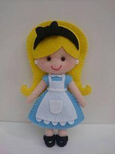 Resultado de imagem para boneca alice de feltro