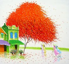 Awesome colorful paintings by Phan Thu Trang - ego-alterego.com