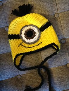 Adult Minion Crochet Hat Made to Order by beaniebird on Etsy, $20.00