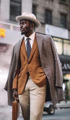 a258212f181  stevenonoja - with a fall dapper combo with a brown herringbone jacket  brown windowpane blazer
