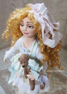 Купить Лилия. Текстильная кукла. Авторская интерьерная кукла. Бохо - салатовый, бохо, авторская кукла