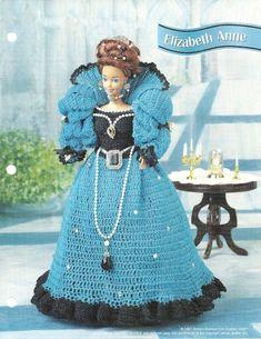 barbie+crochet+ball+gown+patterns+free   BARBIE DOLL GOWN FREE CROCHET PATTERN   Crochet Patterns