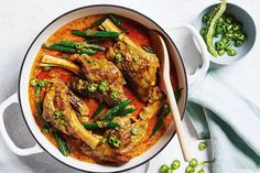 Lamb shank rogan josh curry