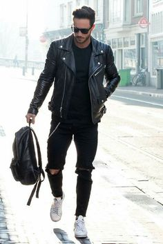 How to wear leather jacket. #mensfashion #style