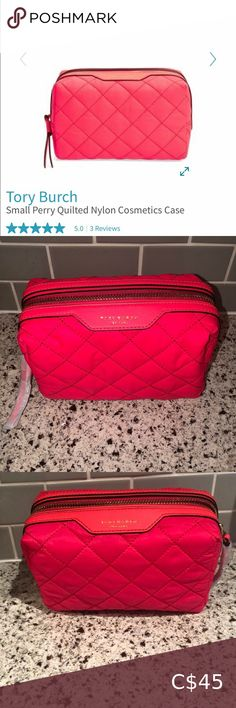 BNWT Tory Burch cosmetic bag. Hot pink Brand new with tag Tory Burch hot pink quilted makeup bag. Perfect practical addition for any girls vacation. Orig 118$ US. Zipper closure. Small inside open pocket. Tory Burch Makeup Bare Minerals Eyeshadow, Valentino Heels, Gold C, Girls Vacation, White C, Thigh High Socks, Pink Brand, Cosmetic Bag, Gym Bag