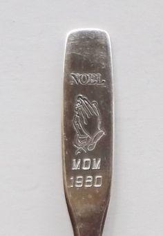 Collector Souvenir Spoon Noel 1980 Mom Praying Hands Christmas