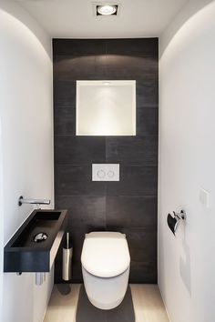 There is actually a Small Bathroom Design Revolution as well as You'll Love These Rule-breaking Trends Nice small basement bathroom design ideas only in popi home design Small Downstairs Toilet, Small Full Bathroom, Small Toilet Room, Small Basement Bathroom, Guest Toilet, Office Bathroom, Bathroom Toilets, Bathroom Layout, Bathroom Interior Design