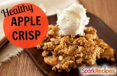 This healthy apple crisp recipe is sweet and simple to prepare but uses very little added sugar.