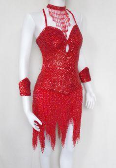 Looks like a fun Samba dress. beads + movement = amazing!