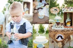 """Photo 1 of 15: Mustache Shower/Birthday / Baby Shower/Sip & See """"Vintage """"Little Man"""" Mustache Party"""" 