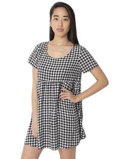 American Apparel Printed Rayon Babydoll Dress - Black White Gingham / M/L American Apparel http://www.amazon.com/dp/B00J6U7HQ0/ref=cm_sw_r_pi_dp_6nPwvb089DC93