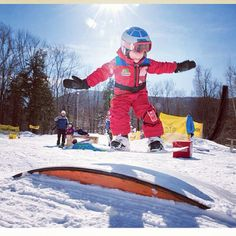 Here goes the next generation snowboarder! Where was your first Rainbow Box or Kicker? Map your favourite spots and find new ones at http://snowboard.youspots.com