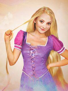 Real Life Disney Princess Portraits: Rapunzel, she reminds of Dakota Fanning and Amanda Seyfried. Disney Rapunzel, Walt Disney, Rapunzel Flynn, Real Disney Princesses, Real Life Rapunzel, Disney Girls, Disney Love, Disney Magic, Disney Characters