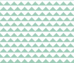 Fabric for my DIY bench? Mint Moroccan Triangles fabric by mrshervi on Spoonflower - custom fabric