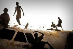 l'épave d'un avion accidenté. Soudan du Sud,...  Camille Lepage /