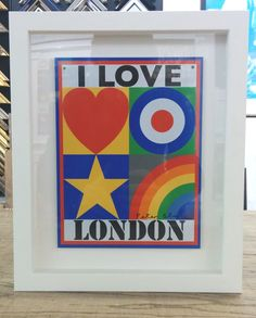 Framed I Love London By Peter Blake