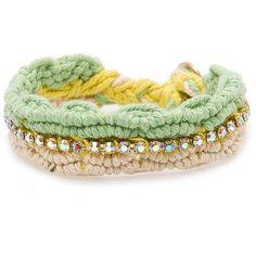 Touch - Crystal Friendship Bracelet ($24) via Polyvore