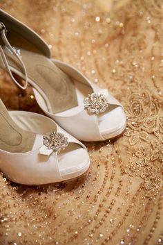 Lovely Angela Nuran Starletta white wedding shoes for Mia, Photography by Kurt Nething