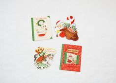 Collection of 4 small vintage Christmas cards by HappyCloudImports, $4.00