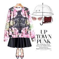 A fashion look from October 2015 featuring MSGM mini skirts, Bebe pumps and M&Co shoulder bags. Browse and shop related looks.