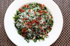 Addictive Raw Kale Salad with Crispy Prosciutto and Parmesan Cheese recipe on Food52