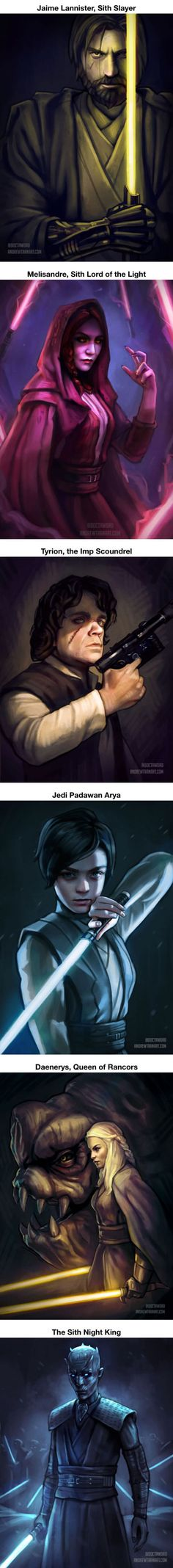 """""""Game Of Thrones"""" Characters In The Star Wars Universe. Who's your favorite?"""