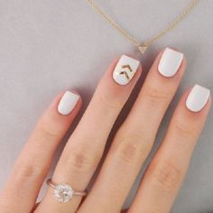 White and gold nail art design. Pretty and simple looking nail art design with white polish as base and gold glitter as the design.