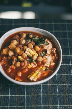spicy vegan chickpea stew.