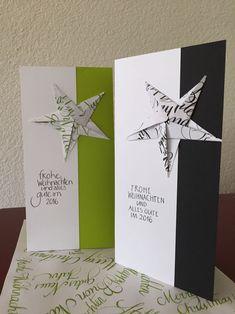 Schlicht schön? Oder schön schlicht? Der Origami-Stern auf der Weihnachtskarte ist eine Idee von kartentraum.ch