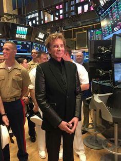 Barry Manilow at the NYSE.