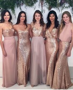 Adoring this unique look for bridesmaids that love #Sparkles designed by @watterswtoo | Via @bellabridesmaids ✨✨. . . ✨