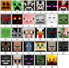 minecraft mobs ~ minecraft mobs & minecraft mobs as humans & minecraft mobs monsters & minecraft mobs art & minecraft mobs in real life & minecraft mobs anime & minecraft mobs as humans boys & minecraft mobs as boys Minecraft Mobs, Minecraft Crafts, Minecraft Face, Minecraft Beads, Minecraft Quilt, Minecraft Characters, Minecraft Bedroom, Minecraft Crochet, Painting Minecraft