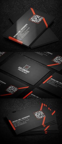 Qr Corporate Business Card - Business Cards on Creattica: Your source for design inspiration