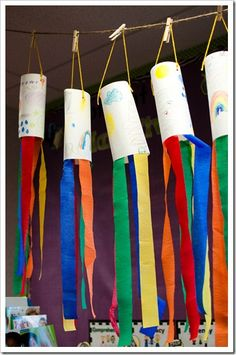 weather unit- wind socks to be used with straw and cotton ball wind idea
