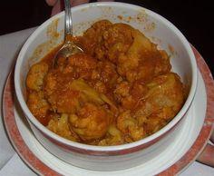 Challaw Gulpi (Cauliflower stew)